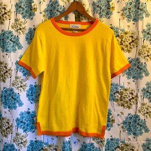 Vintage orange & yellow sweater shirt